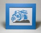 Monster Truck Art 10x8