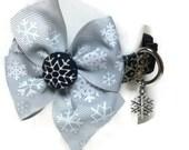 Elegant Snowflake Dog Collar size Extra Small