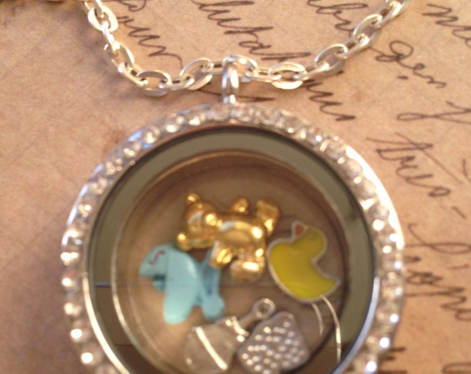 Floating Charms, Floating Lockets, Floating Charm Lockets, Floating Locket Charms, Floating Locket, Charm Necklace