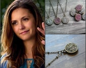 Reversible Crushed Crystal Necklace - 2 in 1 Necklace - As Seen On The Vampire Diaries