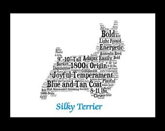 Silky Terrier, Silky Terrier Art, Silky Terrier Artwork, Silky Terrier Print, Custom, Personalize, Pet Gift, Print, Dog Art, Pet Memorial