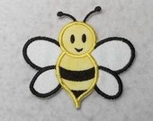 Bumble Bee (small) Tutu & Shirt Supplies - fabric Iron on Applique Patch 7233