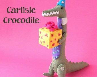 Carlisle Crocodile - felt softie pattern (digital PDF pattern)