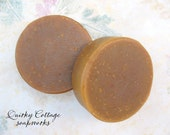Lovey's Spice Goats Milk with Pumpkin and Cocoa Butter Cold Process Round Soap