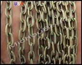 1 YARD - 7x5mm Antiqued BRONZE Smooth Cross Oval Link Metal Chain - Iron Chain by the Yard - Usa Wholesale Chains - Instant Ship - CH 008