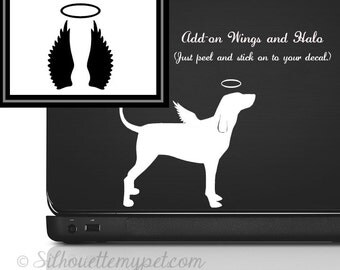 Wings and Halo Add-On Decal Vinyl Sticker - SilhouetteMYpet Design