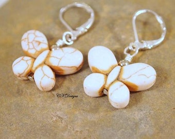 SALE Butterfly Earrings, Teen Earrings, Beaded Pierced Earrings. OOAK Handmade Earrings. Gift CKDesigns.US