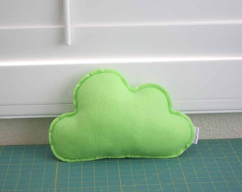 Cloud Pillow (Mint Green / Felt) - Ready To Ship