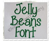 Jelly Beans Machine Embroidery Font Monogram Alphabet - 3 Sizes