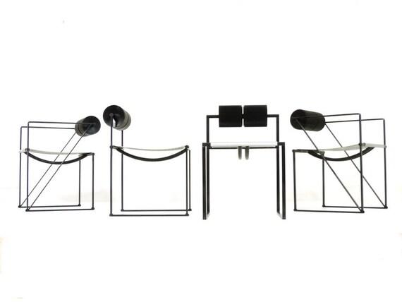Articoli simili a mario botta prima seconda sedie per for Design postmoderno