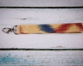 Rust and Navy Key Clip