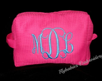 Monogrammed  Cosmetic Bag ~ Personalized Toiletry Bag ~ Monogrammed Toiletry Bag ~ Graduation Gift ~ Quick Shipping