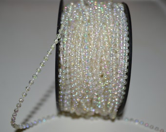 Crystal Iridescent 3MM Pearl Trim