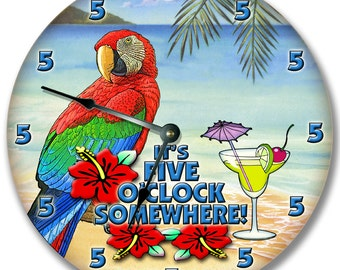 5 o'clock Somewhere Clock wall art