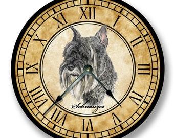 Dog Wall Clock Etsy
