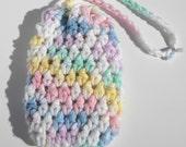 Crochet Soap Saver, Soap Sack, Soap Cozie, Pastel colors