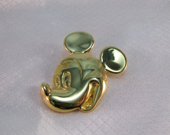 c1985 Wendy Gell for Disney Gold Plated Mickey Mouse Pin