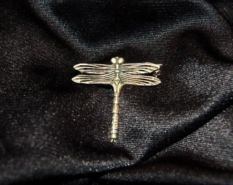 Vintage Sterling Silver 925 Dragonfly  Pin Brooch