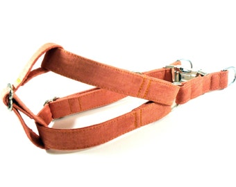 Patina in Terracotta Dog Step in Harness