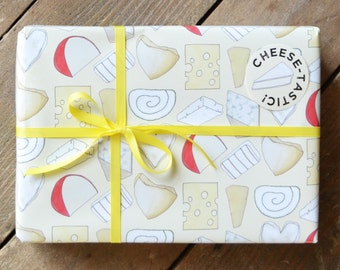 Cheese Wrapping Paper - Gift Wrap for Food Lover - Cheesy Giftwrap - Gift for Cheese Lover