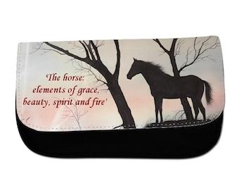 Graphic Horse Cosmetic Bag/Pencil Case