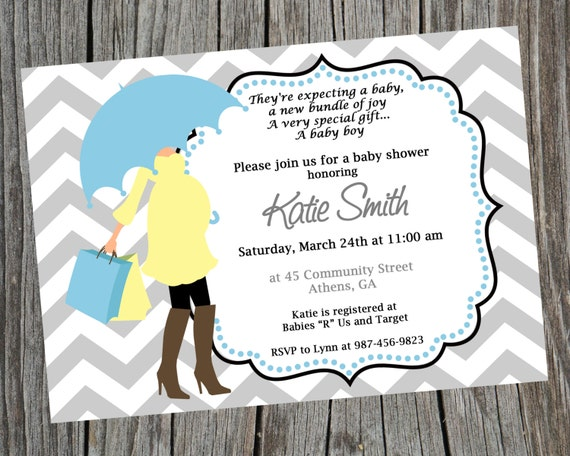 Diy modern mom printable baby shower invitation printable baby boy il570xn filmwisefo Choice Image