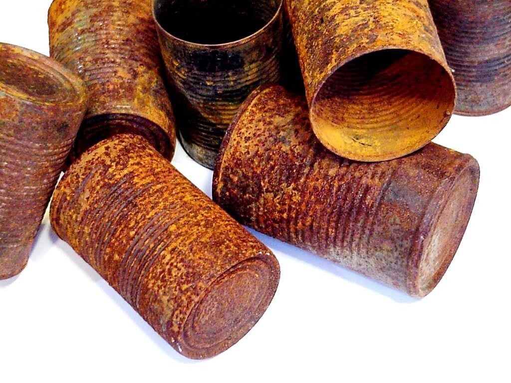 Rusty tin craft supplies -  9 00