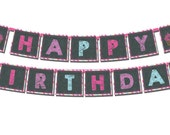 Birthday Banner DIGITAL FILE DIY Cupcake Chalkboard Birthday Girl Birthday Birthday Decorations