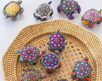 Hmong Turtle /Pin Cushion/Tribal/Ethnic Home decor/Embroidered/Batik