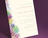 Garden flowers wedding invitation suite for spring wedding, summer wedding. Floral wedding invite set, printable download, rsvp postcard