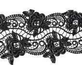 Black lace trim - 6  inches wide