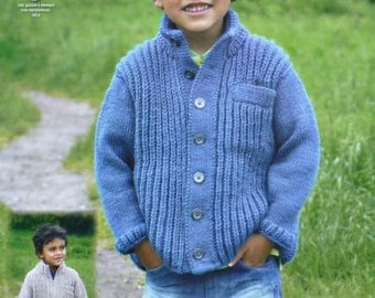 Knitting Patterns Childrens Aran Cardigans : Crochet jacket Etsy