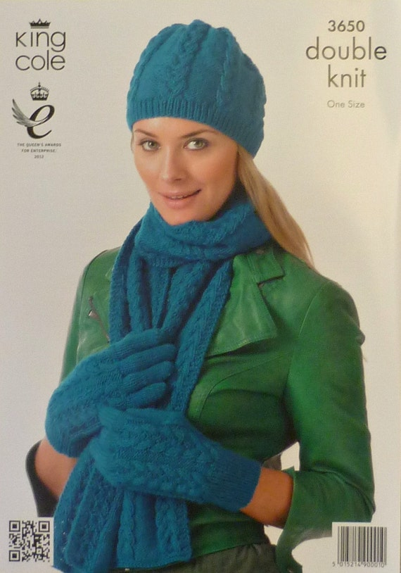 Knitting Pattern Ladies Gloves Dk : Womens Knitting Pattern K3650 Knitting Pattern Ladies Cable