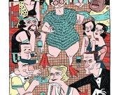 The Wedding Feast: A Freaks inspired illustration print