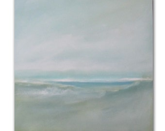 "Painting Acrylic Original, Sea Foam Waves, Abstract Seascape- 20"" x 20"""