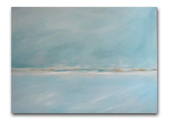 "SALE -Painting Acrylic Original, Hazy Days, 40"" x 30"" Abstract Seascape"