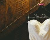Wedding Dress Hanger, Personalized Hanger, Custom Hanger, Wedding and Shower Gift, Bridal Party Hanger, Bride Name Hanger