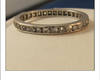 Antique Deco Platinum Diamond Eternity .60 carat Diamond wedding Band
