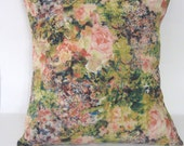 Floral Rose Bouquets Vintage Pillow Cover/ Cottage Rose/ Cottage Chic/ Throw Pillow/ Decorative Pillow/ Shabby Chic decor