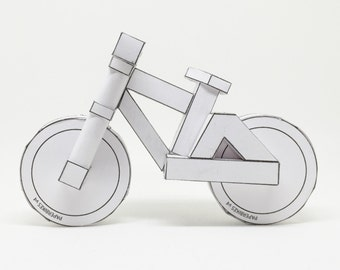 paperbikes v4 - downhill and freeride papercraft model bike