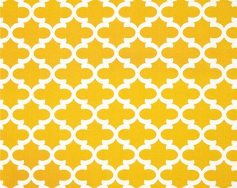 Two 20 x 20  Designer Decorative Pillow Covers for Indoor/Outdoor - Twin Mattress Cover Available  - Yellow Tile Quatrefoile
