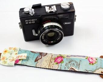DSLR Camera strap---Stamps,Postmark,butterfly,flower