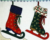 Cut and Sew Panel for Pair of Ice Skate Stockings