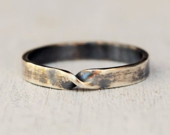 Sterling Silver Mobius Ring - Eternity Band - Reclaimed Silver - Promise Ring - Twist Ring - Stacking Ring - Gift For Her