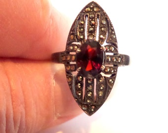 Vintage Ruby Rings For Women Etsy