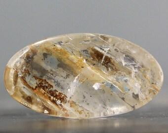 CLEARANCE - SALE - Manifestation Quartz Elongated Oval Cabochon - Spiritual Crystals, Metaphysical Gems, Healing Stones, Shamanic (C7407)