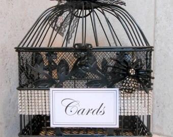 Items Similar To Black Birdcage Wedding Card Holder On Etsy