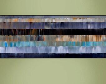 LARGE ART 24X60 Original Abstract Painting Ready to Hang Modern Wall Hangings By Thomas John