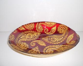 Vintage Decorative ARDA Glassware Fruit or Serving Bowl