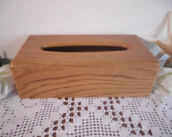 Vintage Wood Kleenex Tissue Box Cover Brown Wooden Bathroom Decor Mid Century Man Cave Mad Men Country Farmhouse Natural Eco Friendly Home